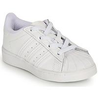 Scarpe Bambina Sneakers basse adidas Originals SUPERSTAR EL I Bianco