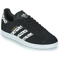 Scarpe Donna Sneakers basse adidas Originals GAZELLE W Nero / Bianco