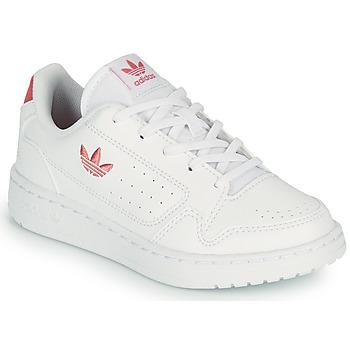 Scarpe Unisex bambino Sneakers basse adidas Originals NY 92 C Bianco / Rosa