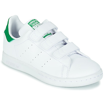 Scarpe Unisex bambino Sneakers basse adidas Originals STAN SMITH CF C SUSTAINABLE Bianco / Verde / Vegan