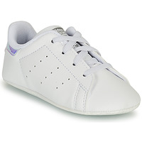 Scarpe Bambina Sneakers basse adidas Originals STAN SMITH CRIB SUSTAINABLE Bianco / Argento