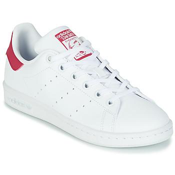 Scarpe Bambina Sneakers basse adidas Originals STAN SMITH J SUSTAINABLE Bianco / Rosa