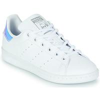 Scarpe Bambina Sneakers basse adidas Originals STAN SMITH J SUSTAINABLE Bianco