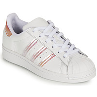 Scarpe Bambina Sneakers basse adidas Originals SUPERSTAR J Bianco