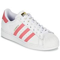 Scarpe Donna Sneakers basse adidas Originals SUPERSTAR W Bianco / Rosa