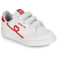 Scarpe Bambina Sneakers basse adidas Originals CONTINENTAL 80 CF C Bianco / Rosso