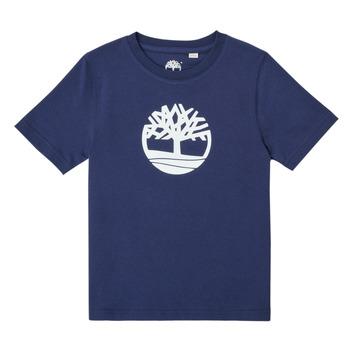 Abbigliamento Bambino T-shirt maniche corte Timberland TRISTA Blu