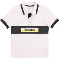 Abbigliamento Bambino Polo maniche corte Timberland DOTTO Bianco