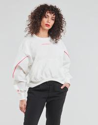 Abbigliamento Donna Felpe Converse BLOCKED ALTERRAIN CREW Bianco