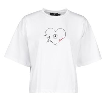 Abbigliamento Donna T-shirt maniche corte Converse CHUCK WOMENS LOVE BOXY TEE Bianco