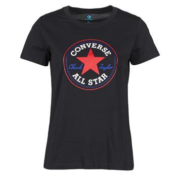 Abbigliamento Donna T-shirt maniche corte Converse CHUCK PATCH NOVA TEE Nero