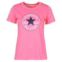 Abbigliamento Donna T-shirt maniche corte Converse CHUCK PATCH NOVA TEE Rosa