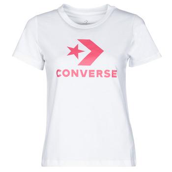 Abbigliamento Donna T-shirt maniche corte Converse STAR CHEVRON CENTER FRONT TEE Bianco
