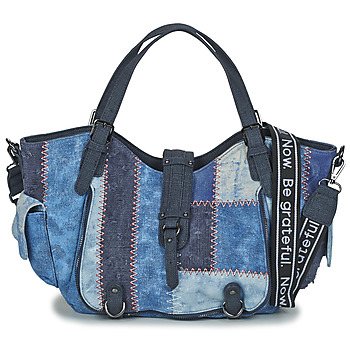 Borse Donna Borse a spalla Desigual BOLS_ PATCH DENIM_ROTTERDAM Denim / Nero / Blue