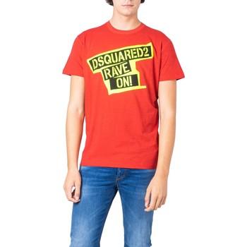 Abbigliamento Uomo T-shirt maniche corte Dsquared S74GD0593 Rosso