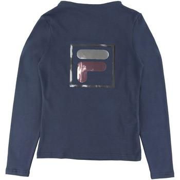 Abbigliamento Bambina T-shirts a maniche lunghe Fila - T-shirt blu 688102-170 BLU