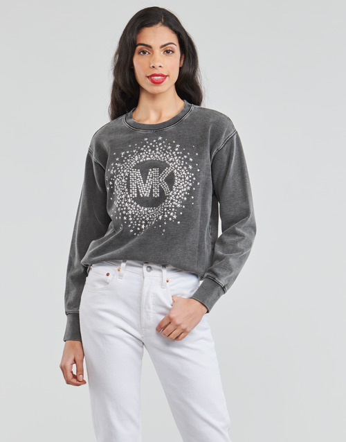 Abbigliamento Donna Felpe MICHAEL Michael Kors ACID WSH MK STAR STUD Nero
