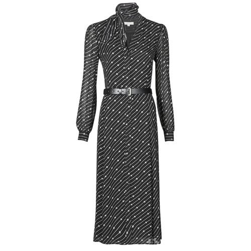 Abbigliamento Donna Abiti lunghi MICHAEL Michael Kors CIRCLE LOGO SHRT DRS Nero / Bianco