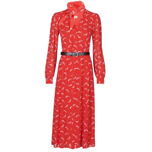 Abbigliamento Donna Abiti lunghi MICHAEL Michael Kors SIGNTRE LOGO SHRT DRS Rosso
