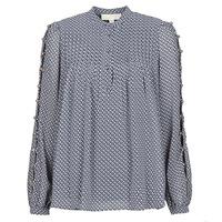 Abbigliamento Donna Top / Blusa MICHAEL Michael Kors MINI FLORAL LS TOP Marine
