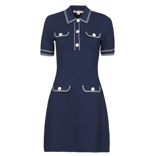 Abbigliamento Donna Abiti corti MICHAEL Michael Kors CONTRAST STITCH BUTTON DRESS Marine