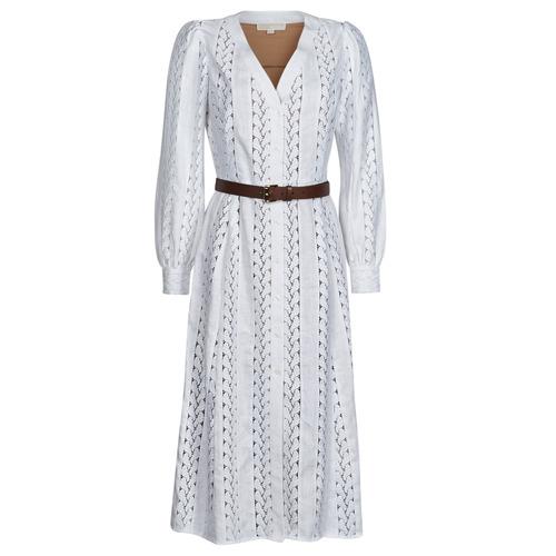 Abbigliamento Donna Abiti lunghi MICHAEL Michael Kors ROPE STRIPES HEMP DS Bianco