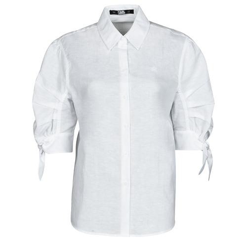 Abbigliamento Donna Camicie Karl Lagerfeld LINENSHIRTW/BOWS Bianco