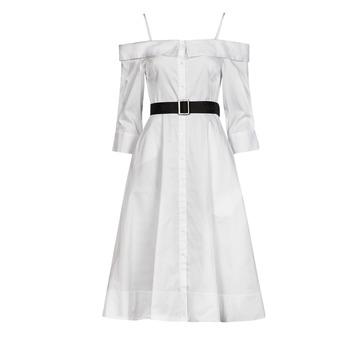 Abbigliamento Donna Abiti lunghi Karl Lagerfeld COLDSHOULDERSHIRTDRESS Bianco