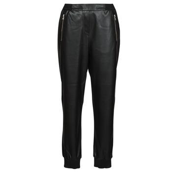 Abbigliamento Donna Pantaloni 5 tasche Karl Lagerfeld FAUXLEATHERJOGGERS Nero