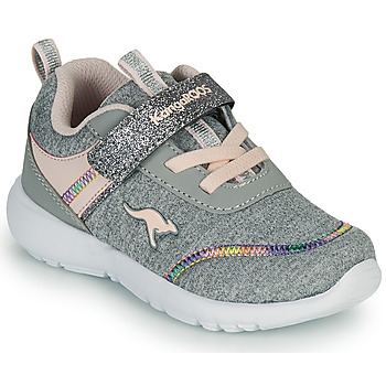 Scarpe Bambina Sneakers basse Kangaroos KY-CHUMMY EV Grigio / Rosa