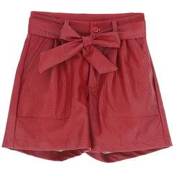 Abbigliamento Bambina Shorts / Bermuda Dixie SHORT PELLE GIRL Red
