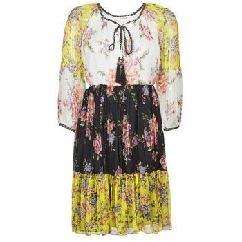 Abbigliamento Donna Abiti corti Derhy SARDAIGNE Nero / Bianco / Giallo