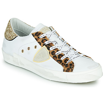Scarpe Donna Sneakers basse Philippe Model PARIS Bianco / Leopard