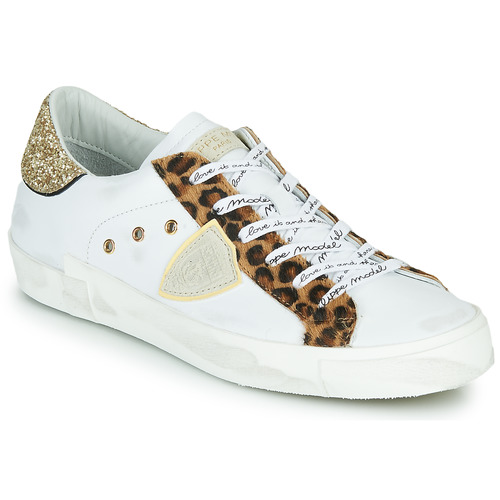 Scarpe Donna Sneakers basse Philippe Model PARIS Bianco / Leopard