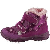 Scarpe Unisex bambino Sneakers alte Superfit Glacier Rosa, Viola