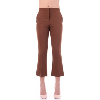 Abbigliamento Donna Pantaloni da completo Angela Davis EG71 Tabacco