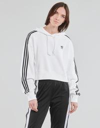 Abbigliamento Donna Felpe adidas Originals SHORT HOODIE Bianco
