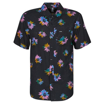 Abbigliamento Uomo Camicie maniche corte Volcom PLEASURE CRUISE S/S Nero