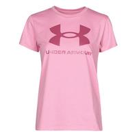 Abbigliamento Donna T-shirt maniche corte Under Armour LIVE SPORTSTYLE GRAPHIC SSC Rosa