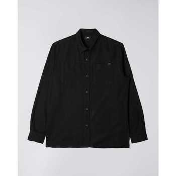Abbigliamento Uomo Camicie maniche lunghe Edwin Chemise  Fannar noir
