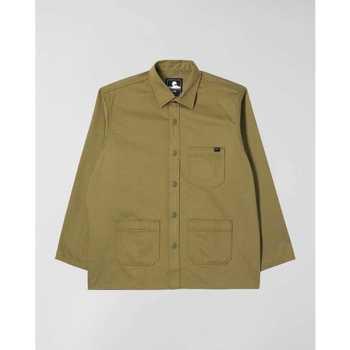 Abbigliamento Uomo Camicie maniche lunghe Edwin Chemise  Major olive