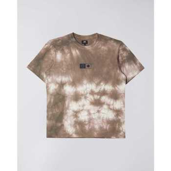 Abbigliamento Uomo T-shirt maniche corte Edwin T-shirt  Synergy marron/blanc