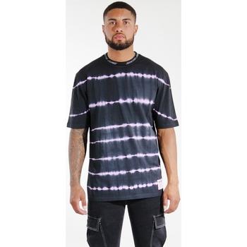 Abbigliamento Uomo T-shirt & Polo Sixth June T-shirt  Tie & Dye noir/violet