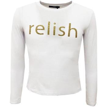 Abbigliamento Bambina T-shirts a maniche lunghe Relish ML Bianco