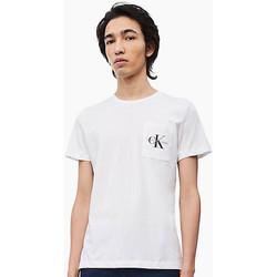 Abbigliamento Uomo T-shirt maniche corte Calvin Klein Jeans Héros logo reg top pocket Bianca