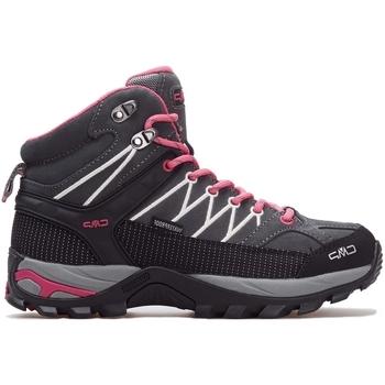 Scarpe Donna Sneakers alte Cmp Rigel Mid Wmn WP Grigio,Rosa,Grafite