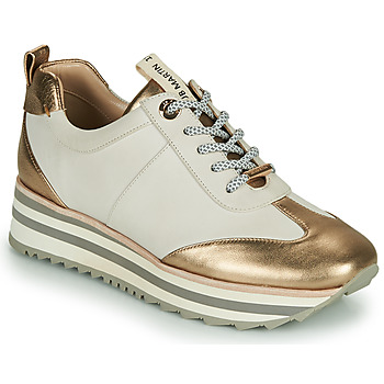 Scarpe Bambina Sneakers basse JB Martin 4CANDIO Banc / Oro