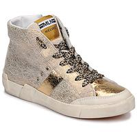 Scarpe Donna Sneakers alte Meline NK1384 Oro