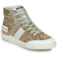 Scarpe Donna Sneakers alte Meline NKC1369 Oro