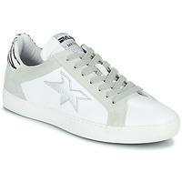 Scarpe Donna Sneakers basse Meline KUC256 Bianco / Argento / Zebra